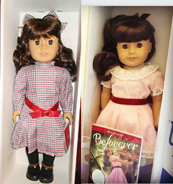 Old & New Samantha Dolls - Not Labeled